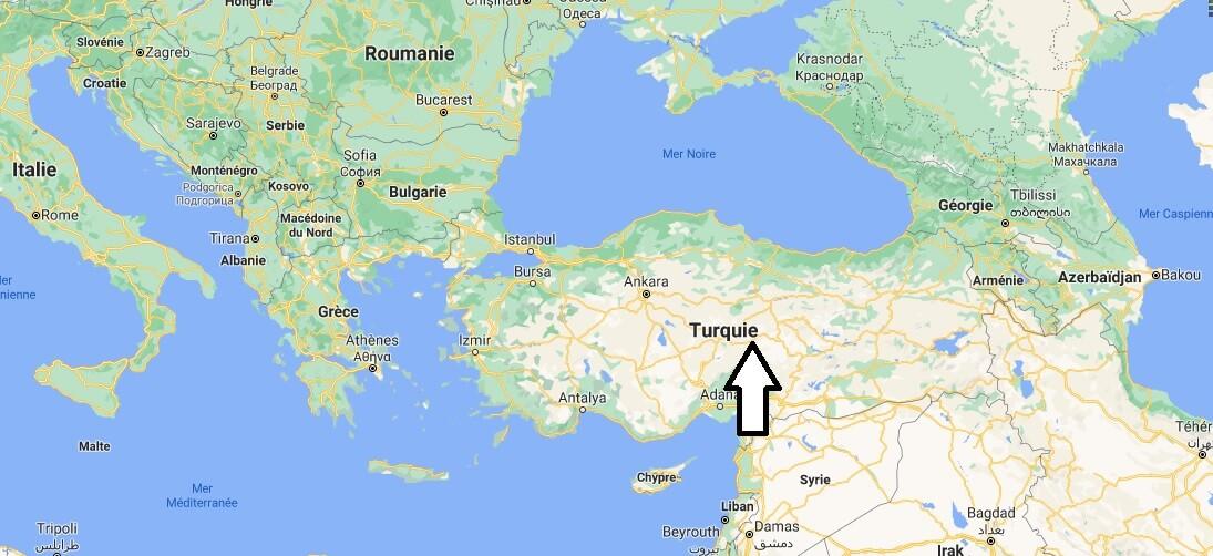 Où se situe la Turquie