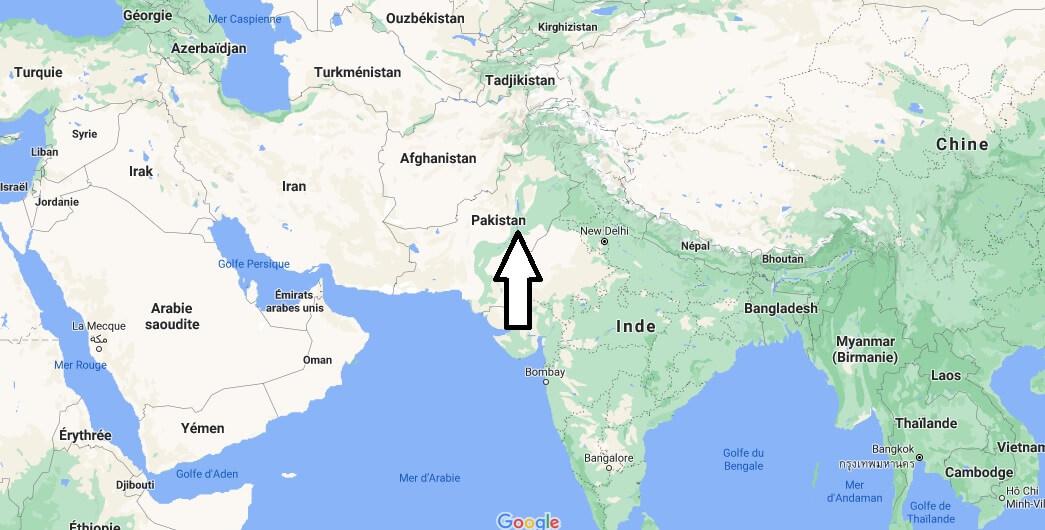 Où se situe le Pakistan