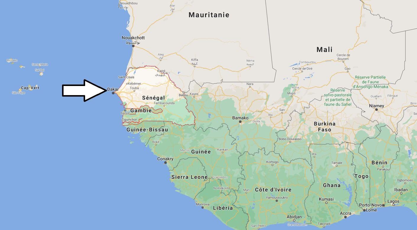 Où se situe le Sénégal