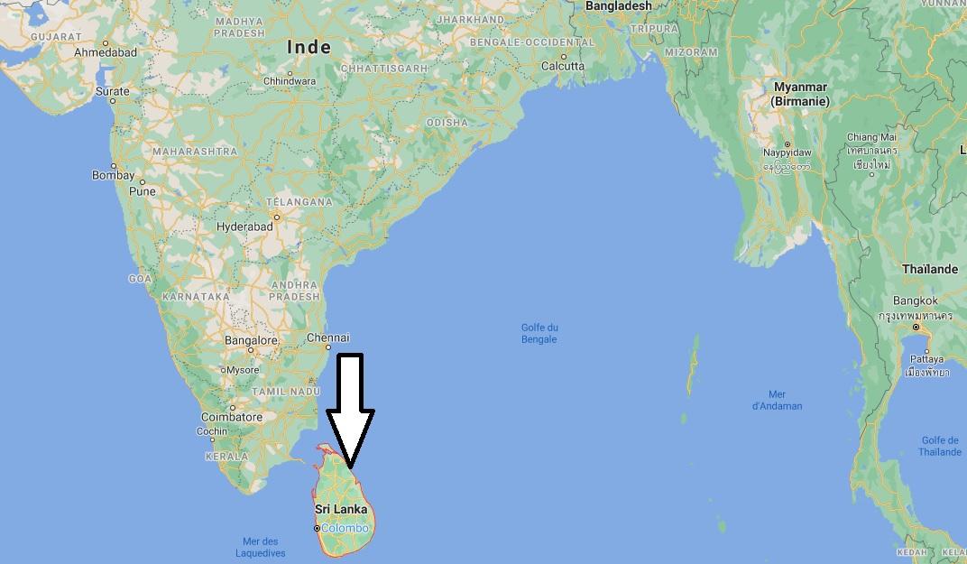 Où se situe le Sri Lanka