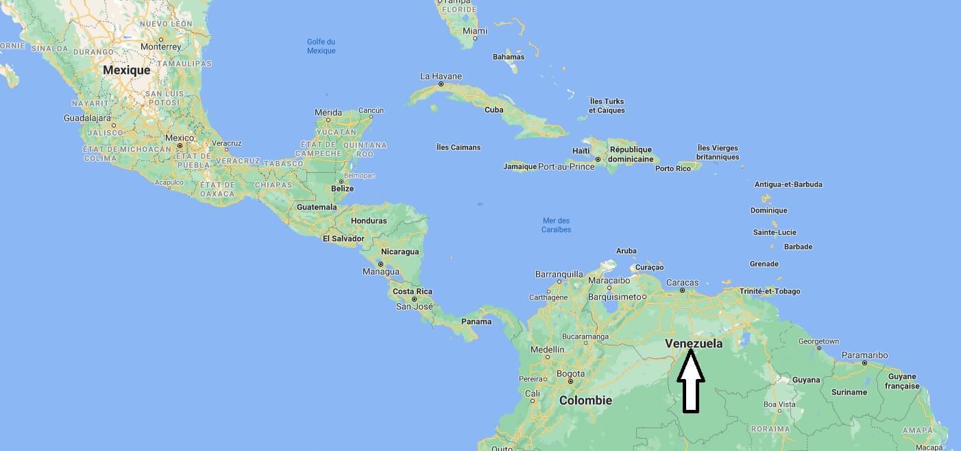 Où se situe le Venezuela