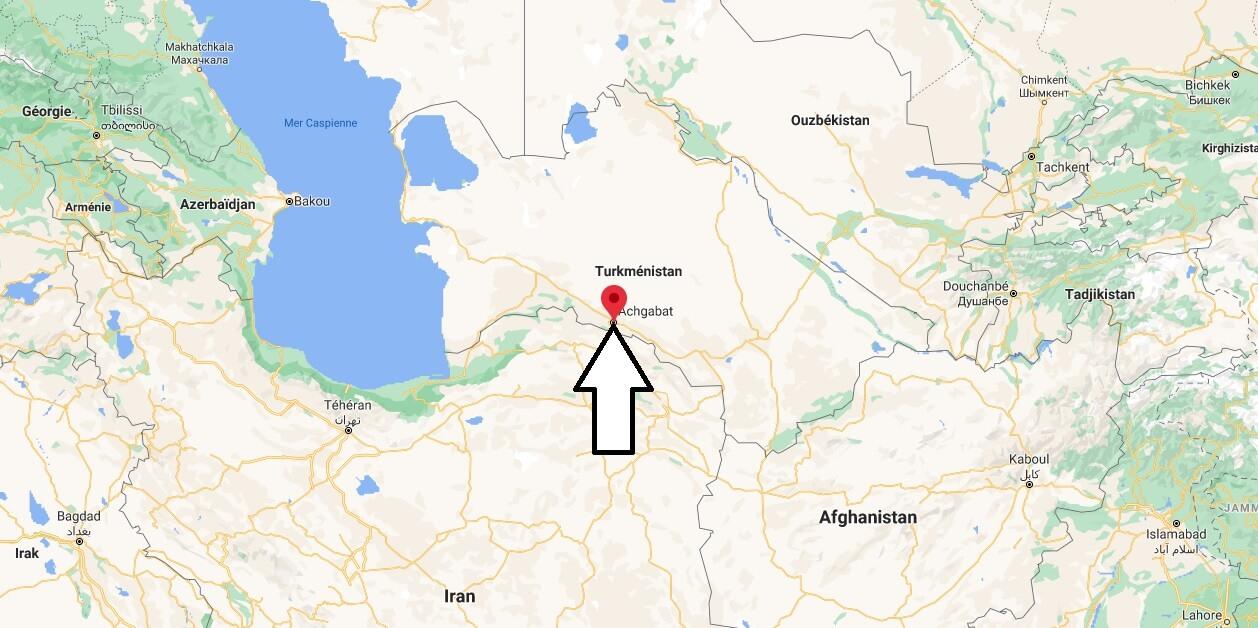 Où se trouve Ashgabat