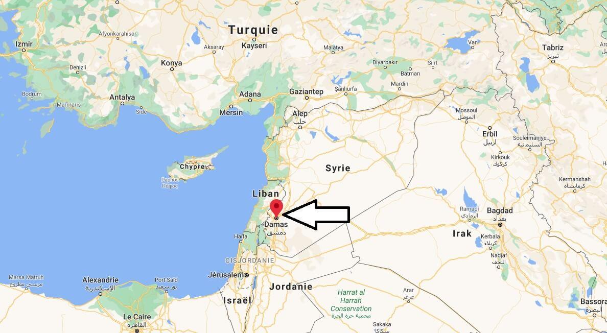 Où se trouve Damas