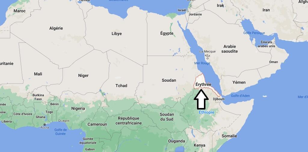Où se trouve Érythrée