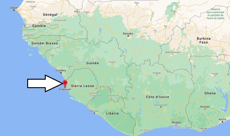 Où se trouve Freetown