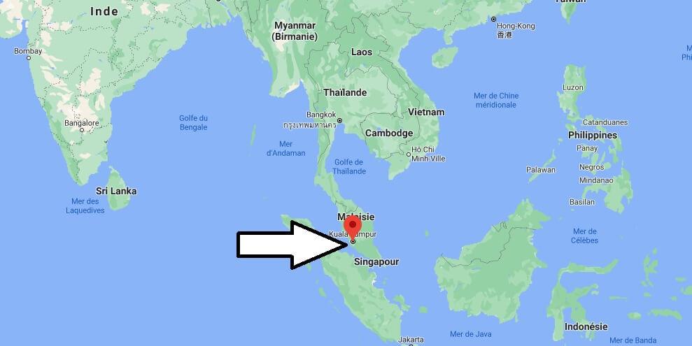 Où se trouve Kuala Lumpur