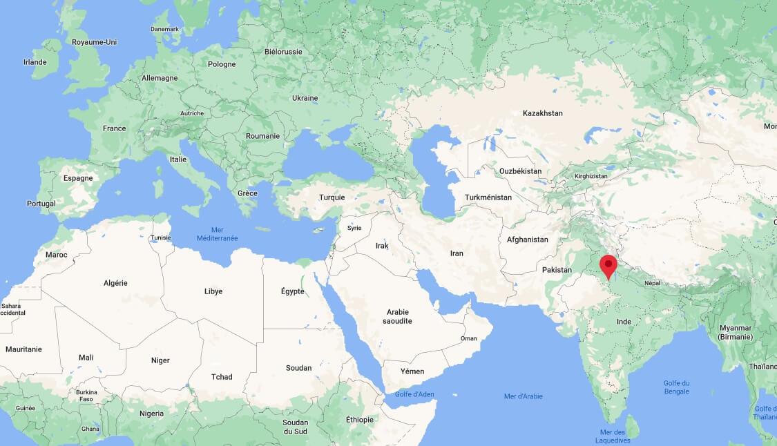 Où se trouve New Delhia