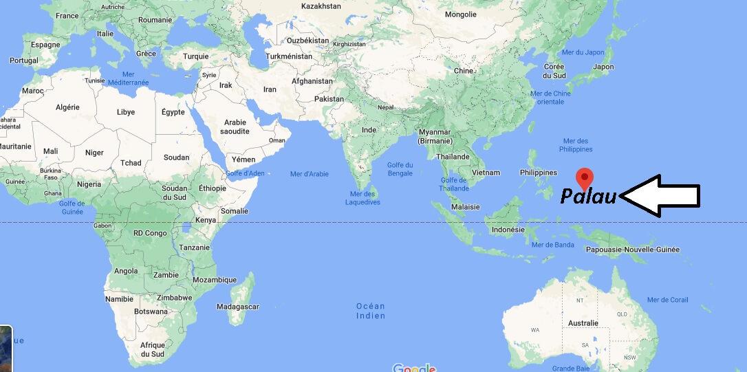 Où se trouve Palau