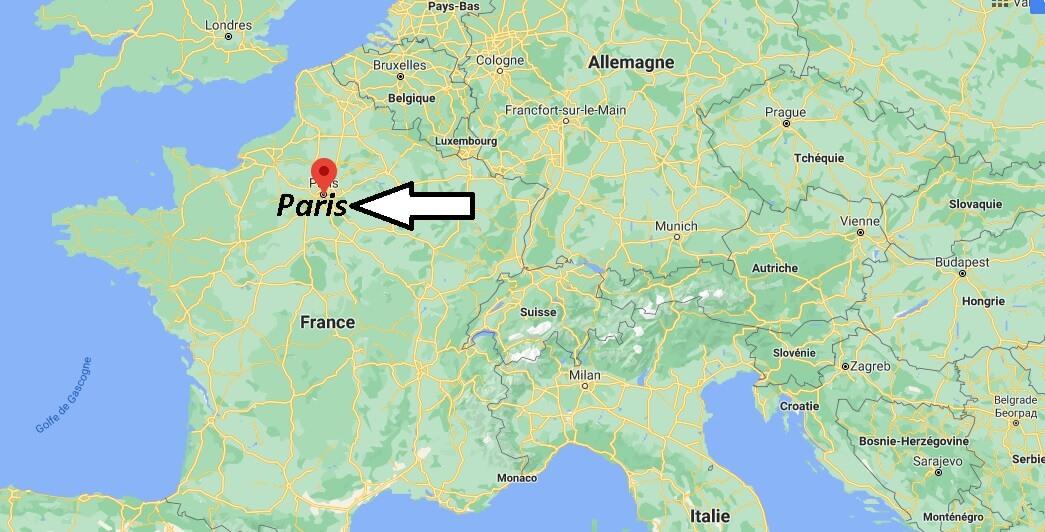 Où se trouve Paris sur la carte de France