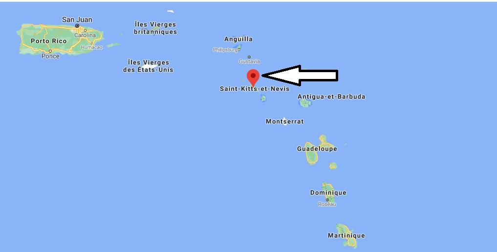 Où se trouve Saint-Kitts-et-Nevis