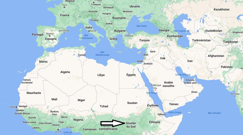Où se trouve Soudan du Sud