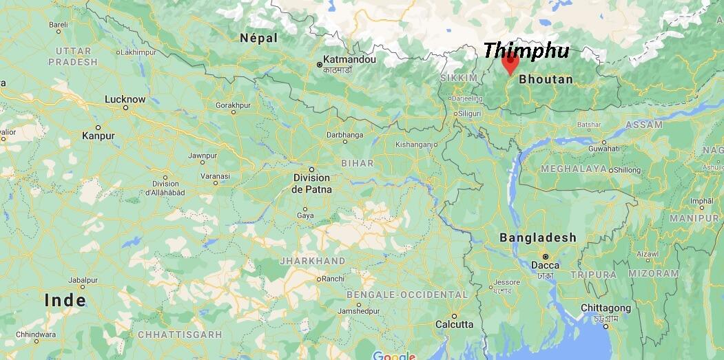 Où se trouve Thimphu
