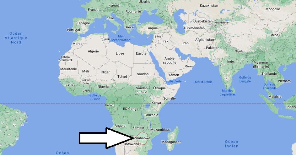 Où se trouve Zimbabwe
