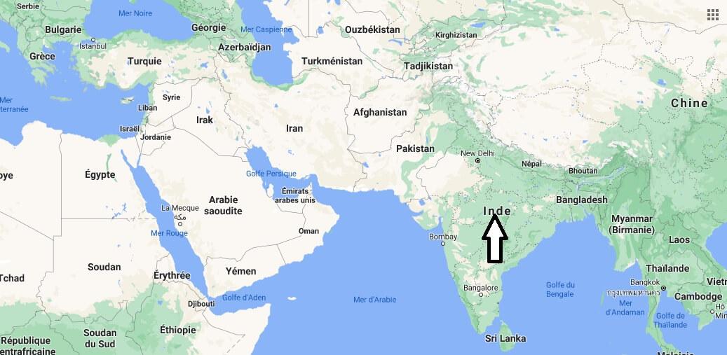 Où se trouve l-Inde
