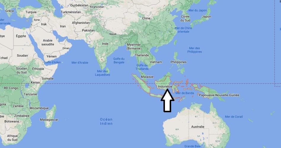 Où se trouve l-Indonésie