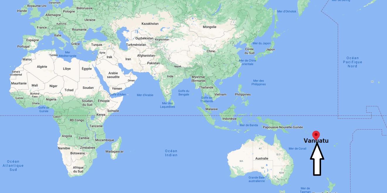 Où se trouve l-île de Vanuatu