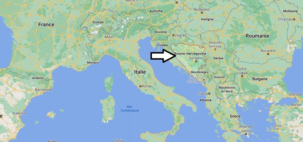 Où se trouve la Bosnie-Herzégovine