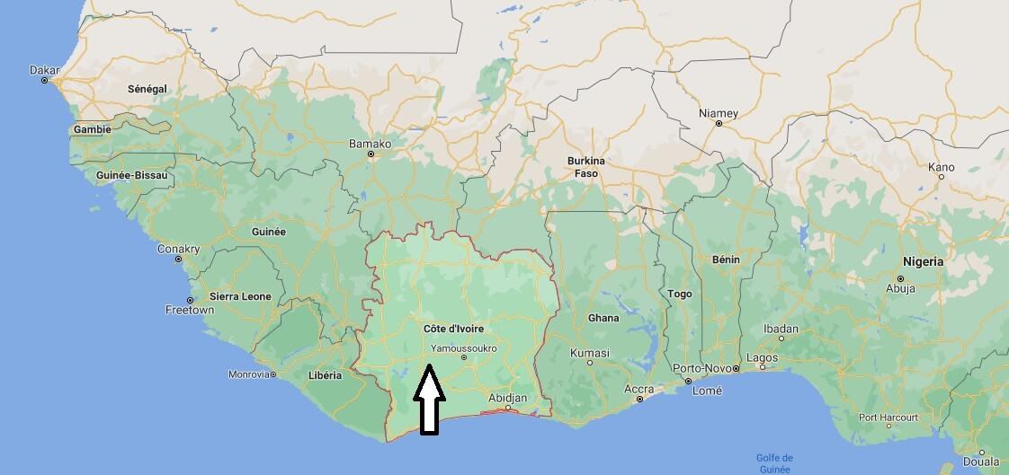 Où se trouve la Côte d-Ivoire