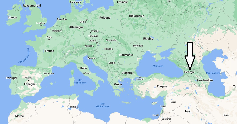 Où se trouve la Géorgie