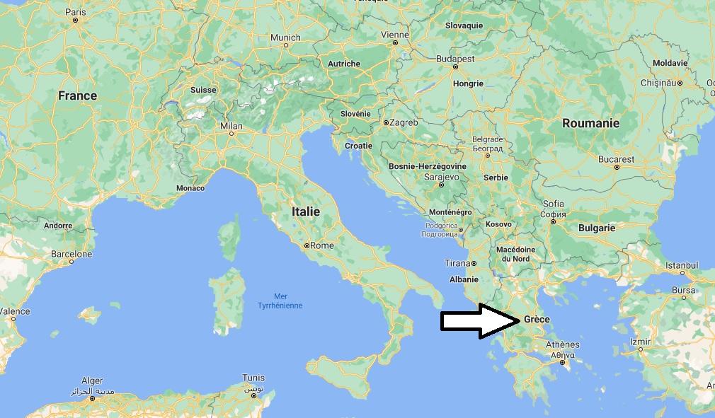 Où se trouve la Grèce