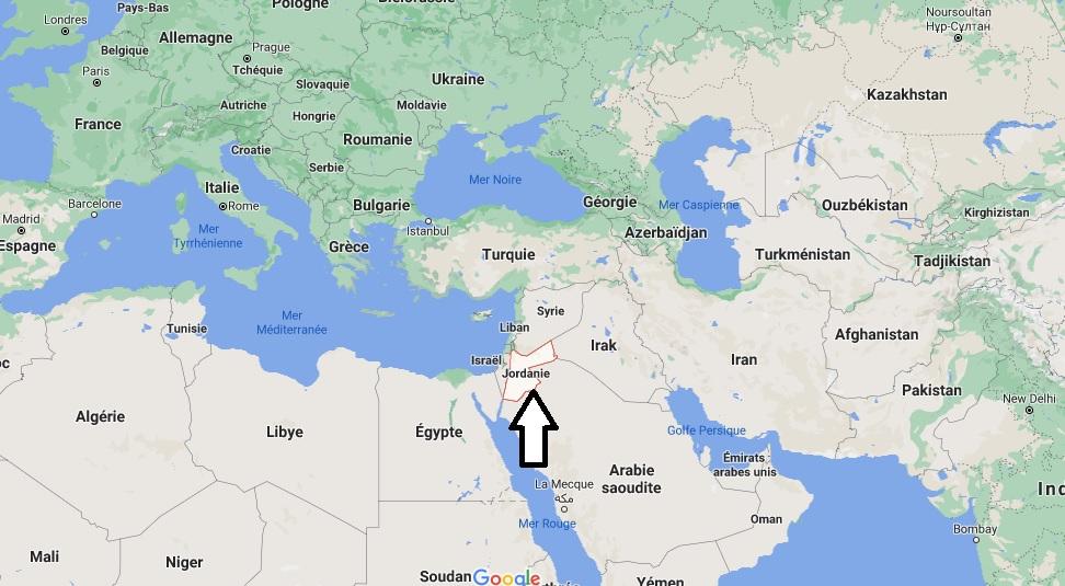 Où se trouve la Jordanie