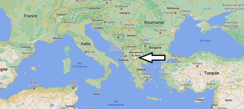 Où se trouve la Macédoine