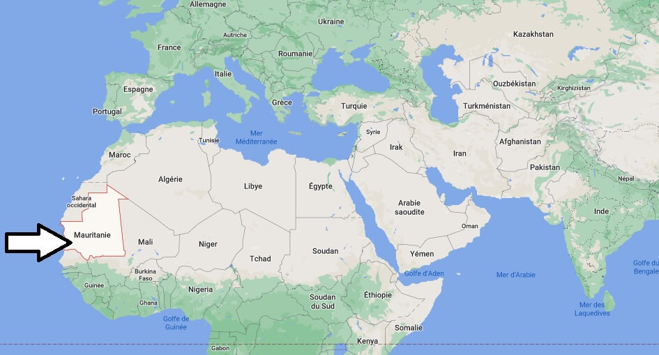 Où se trouve la Mauritanie