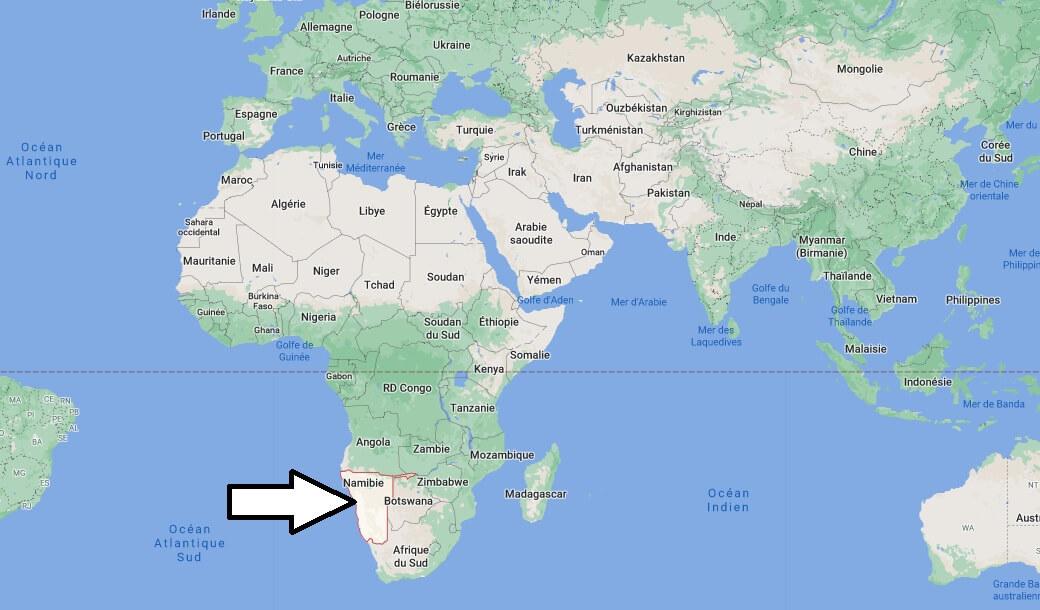 Où se trouve la Namibie