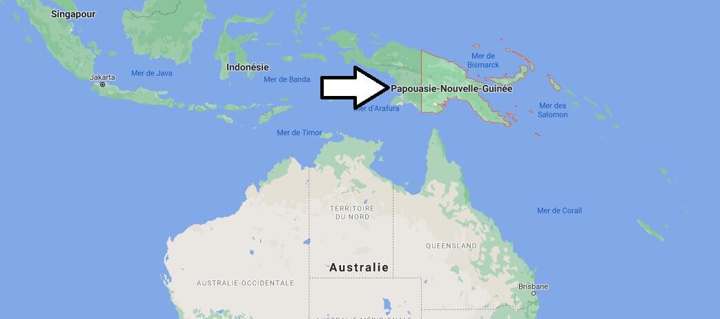 Où se trouve la Papouasie Nouvelle Guinée