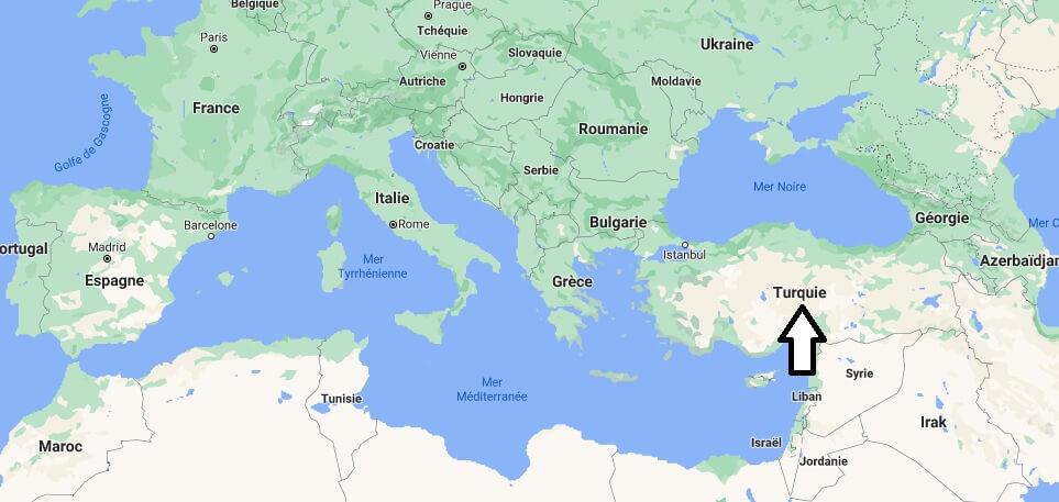 Où se trouve la Turquie
