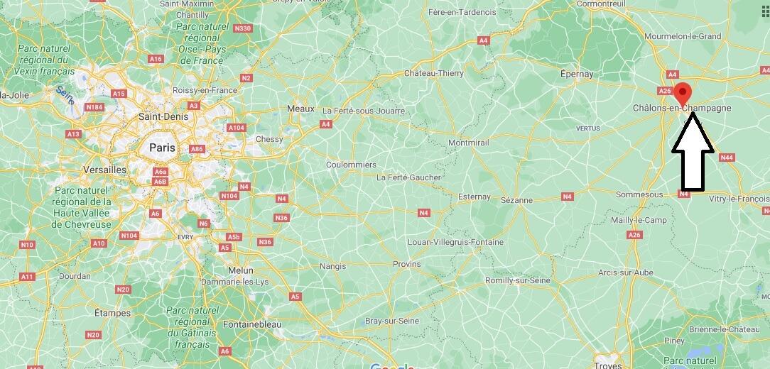 Où se trouve la ville Châlons-en-Champagne