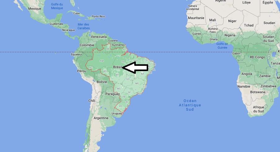 Où se trouve le Brésil