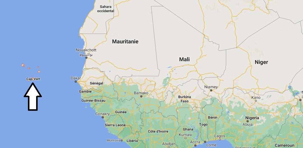 Où se trouve le Cap Vert
