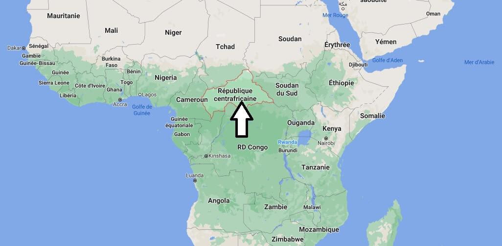 Où se trouve le Centrafrique