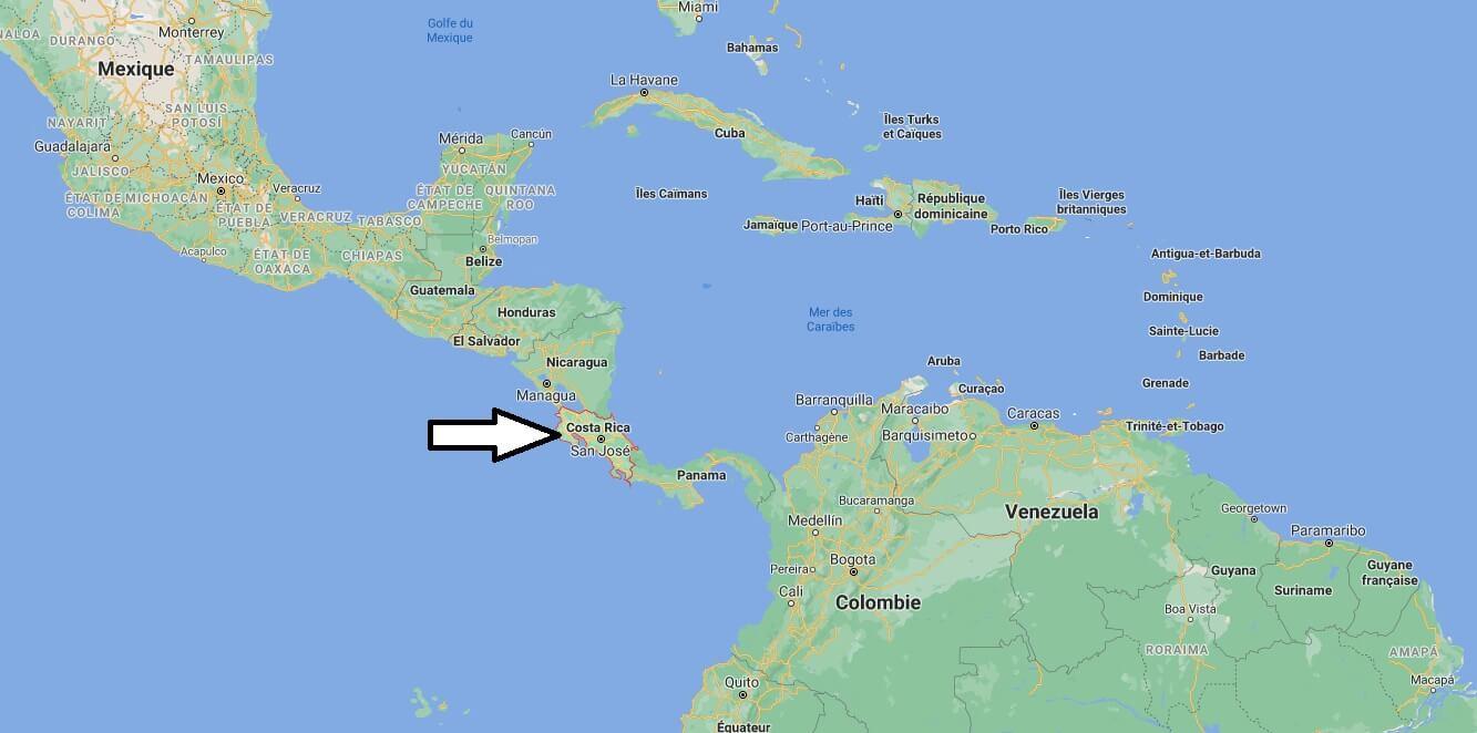 Où se trouve le Costa Rica