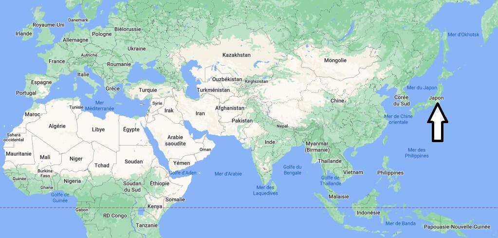 Où se trouve le Japon
