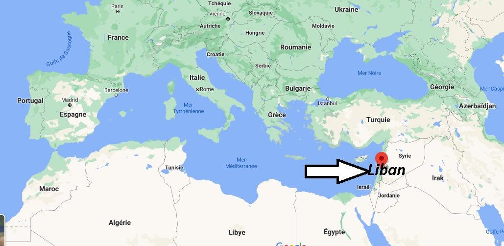 Où se trouve le Liban