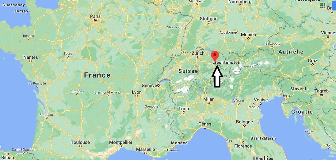 Où se trouve le Liechtenstein
