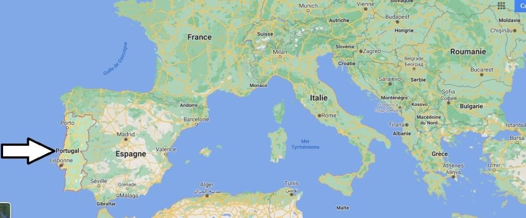 Où se trouve le Portugal
