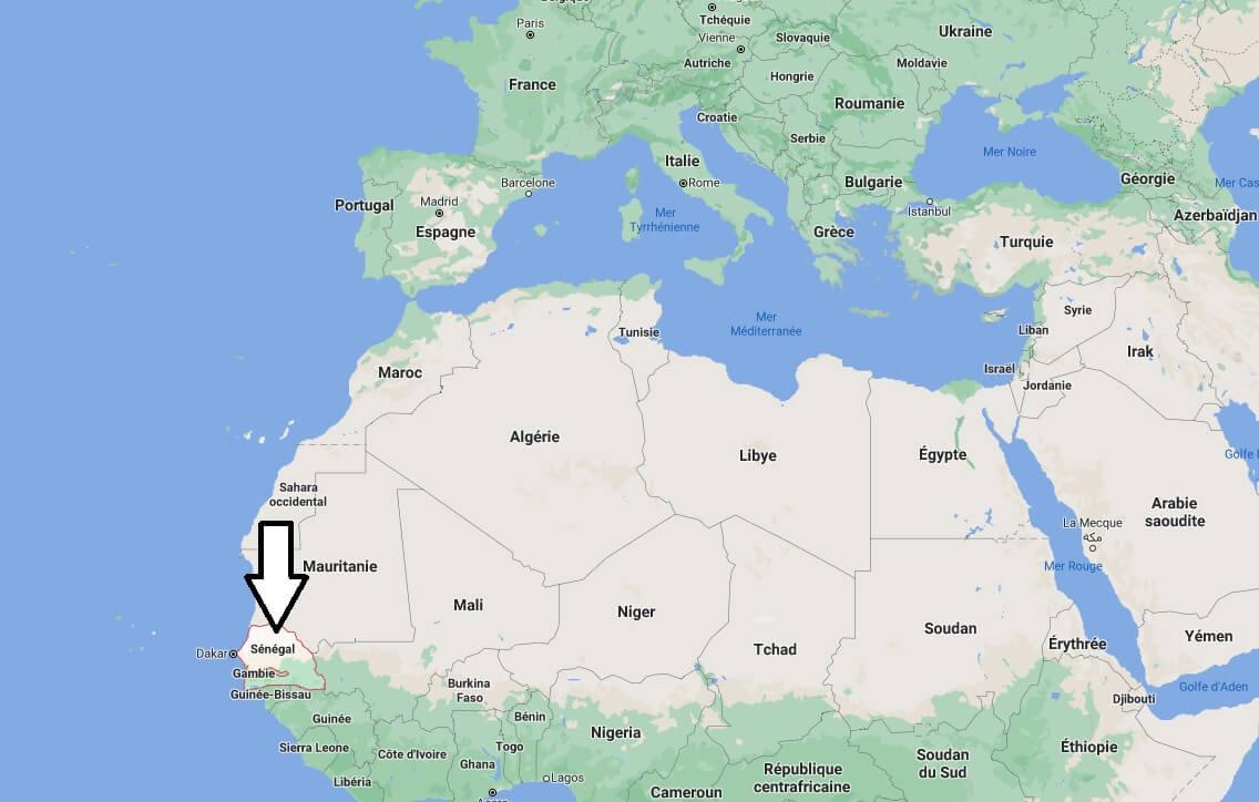 Où se trouve le Sénégal