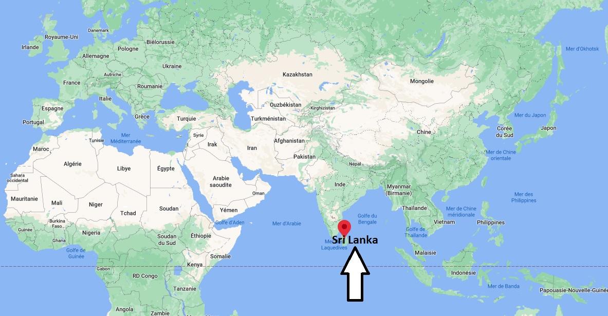 Où se trouve le Sri Lanka
