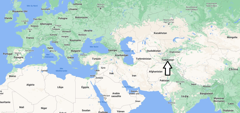 Où se trouve le Tadjikistan