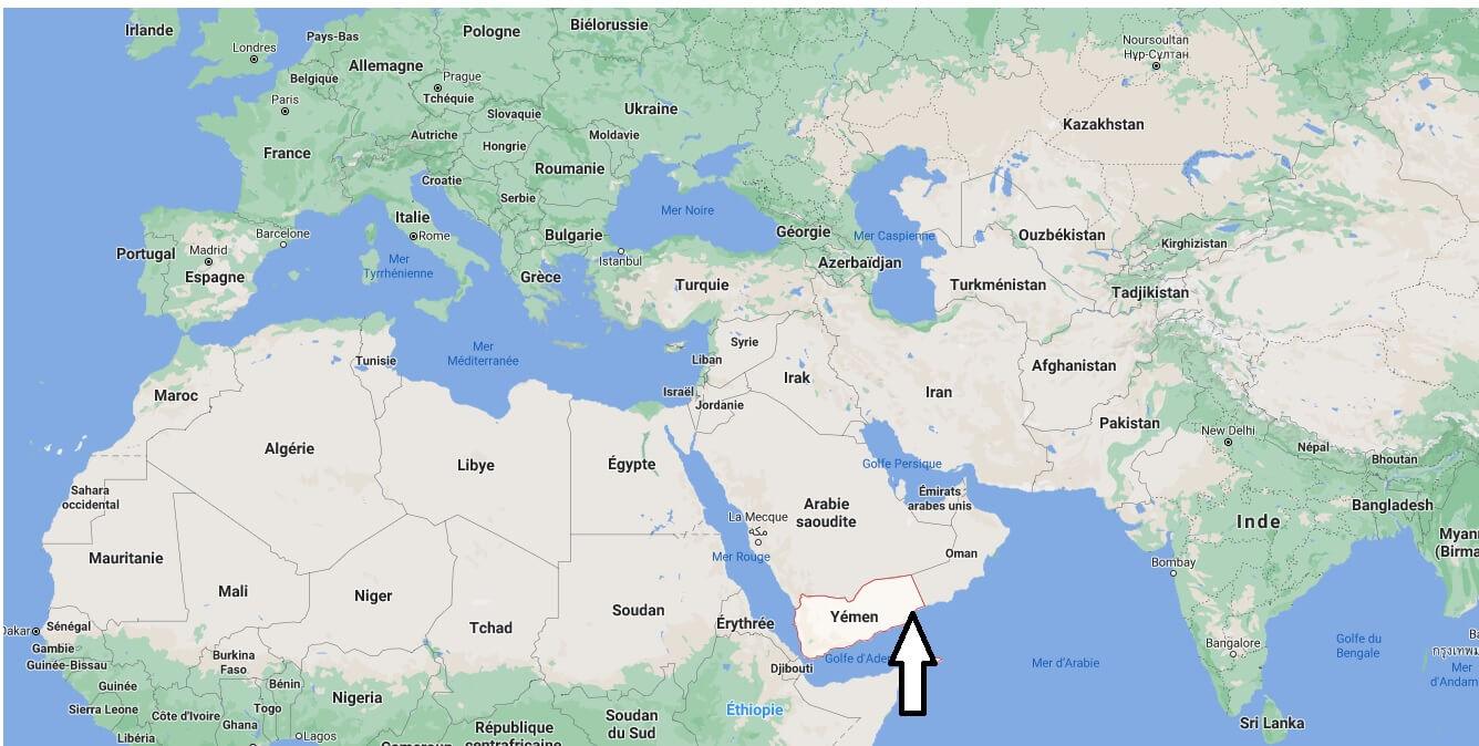 Où se trouve le Yémen