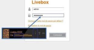 Où se trouve le mot de passe de la livebox