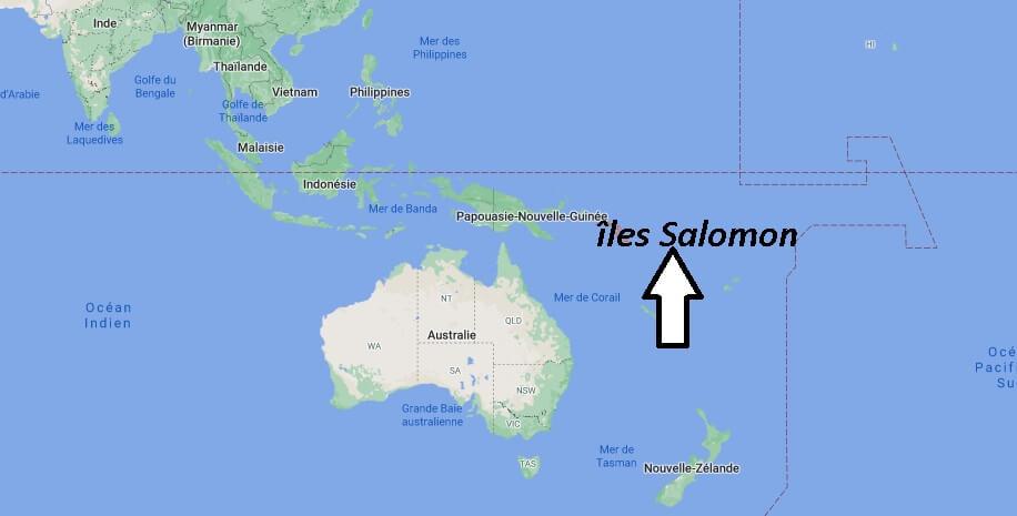 Où se trouvent les îles Salomon