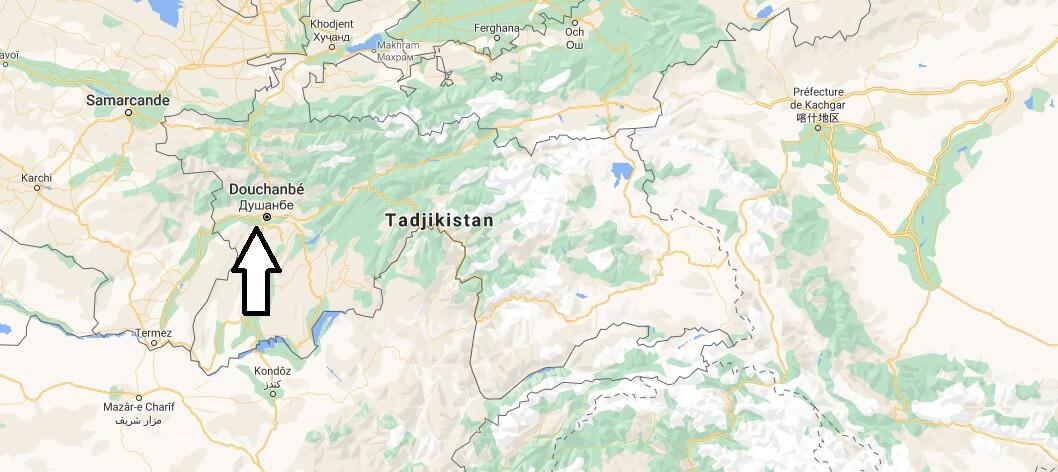 Quelle est la capitale de Tadjikistan