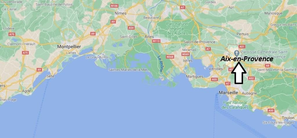 Où se situe Aix-en-Provence (Code postal 13001)