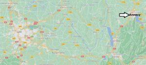 Où se situe Annecy (Code postal 74000)