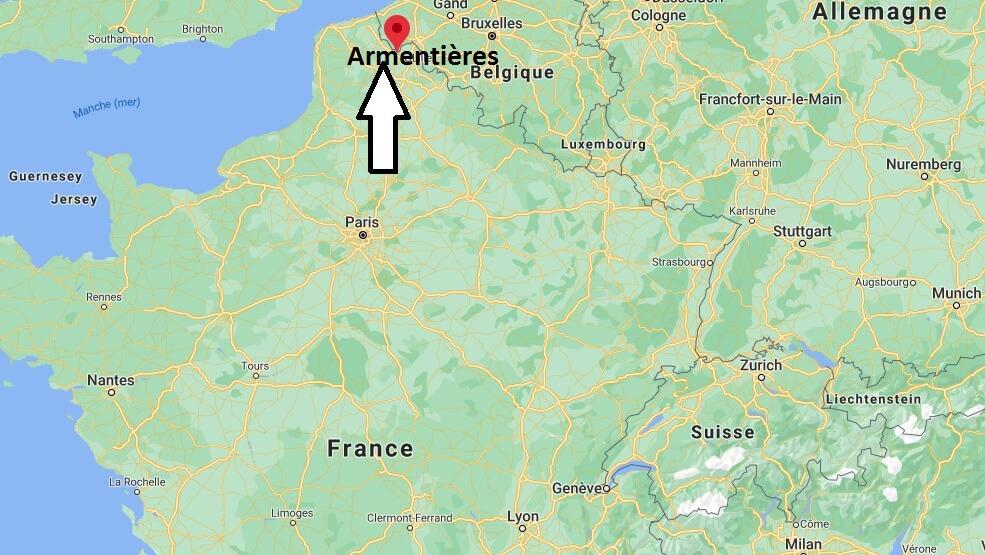 Où se situe Armentières (Code postal 59280)