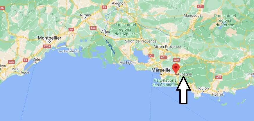 Où se situe Aubagne (Code postal 13400)